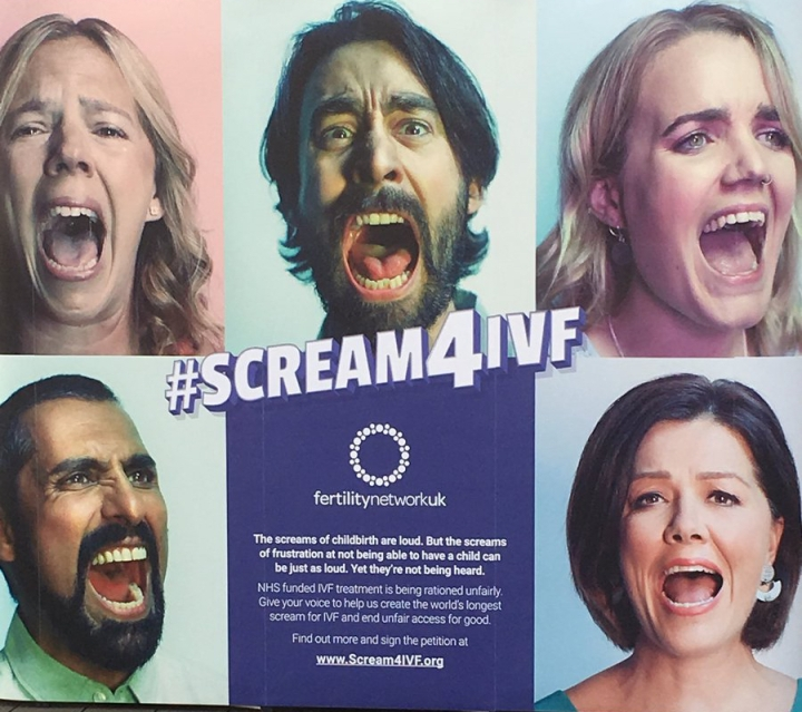 banner ad for the Scream4IVF